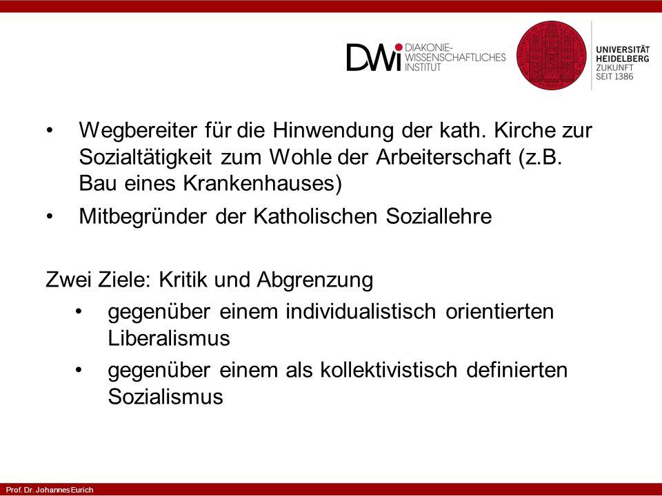 Prof. Dr. Johannes Eurich Wegbereiter für die Hinwendung der kath.