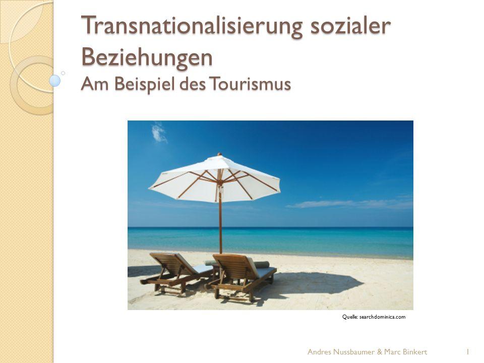 Transnationalisierung sozialer Beziehungen Am Beispiel des Tourismus Quelle: searchdominica.com 1Andres Nussbaumer & Marc Binkert