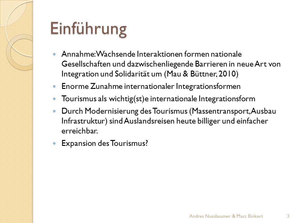 Entwicklung Tourismus international Hauptindikatoren global: internationale Touristenankünfte und internationale Tourismuseinnahmen Quelle: UNWTO 4Andres Nussbaumer & Marc Binkert