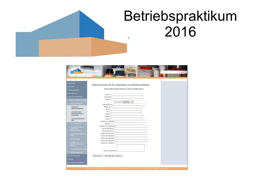 Betriebspraktikum 2016