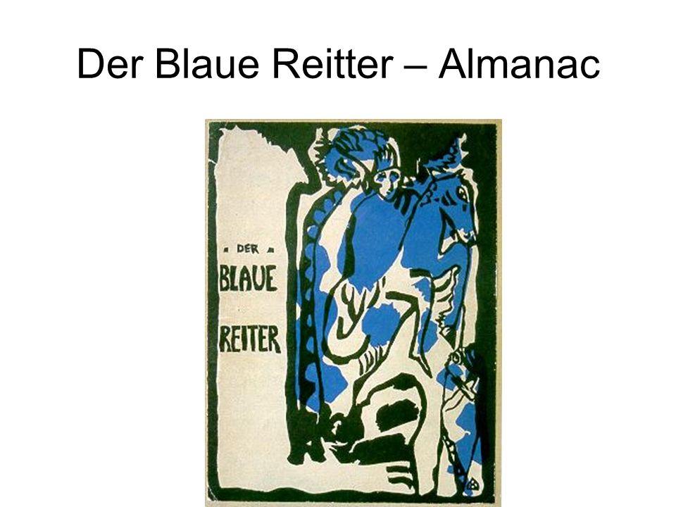 Der Blaue Reitter – Almanac