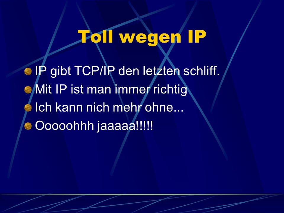 Toll wegen IP IP gibt TCP/IP den letzten schliff.