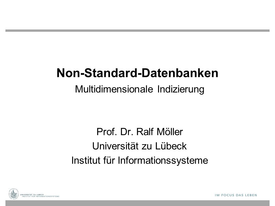 Non-Standard-Datenbanken Multidimensionale Indizierung Prof.