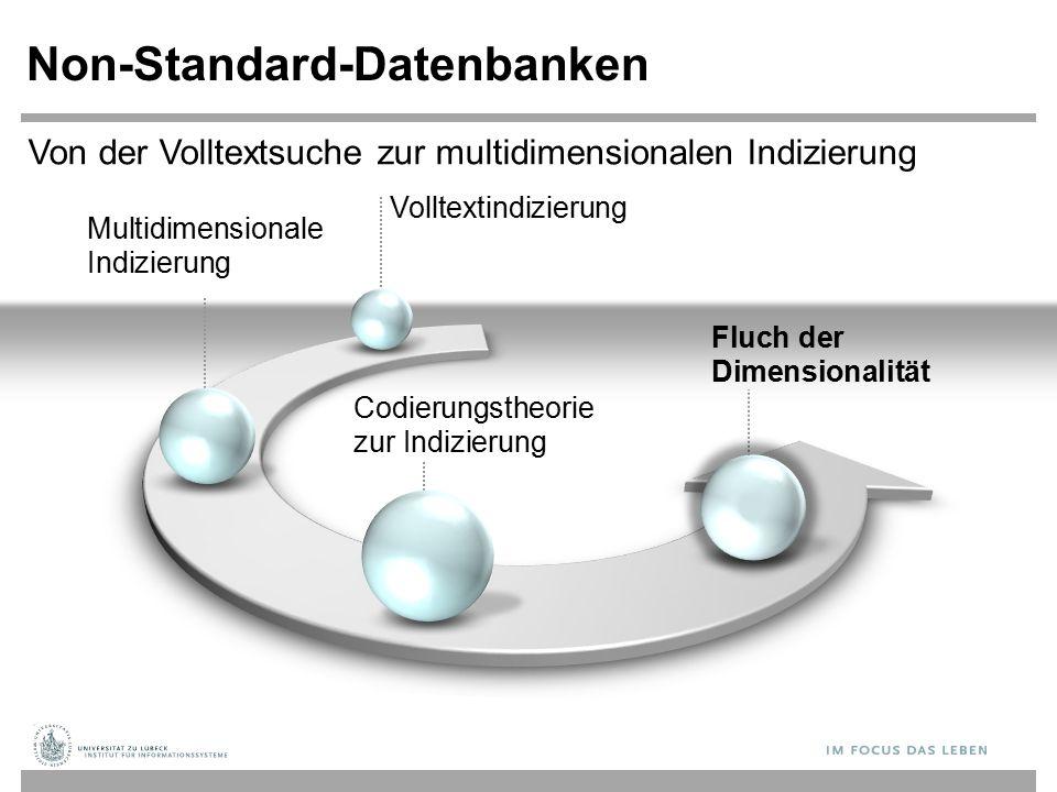 Multidimensionale Indizierung Non-Standard-Datenbanken Codierungstheorie zur Indizierung Fluch der Dimensionalität Von der Volltextsuche zur multidimensionalen Indizierung Volltextindizierung