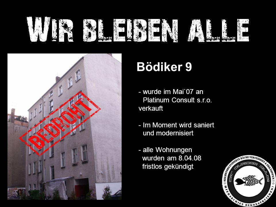 Bödiker 9 - wurde im Mai`07 an - Platinum Consult s.r.o.