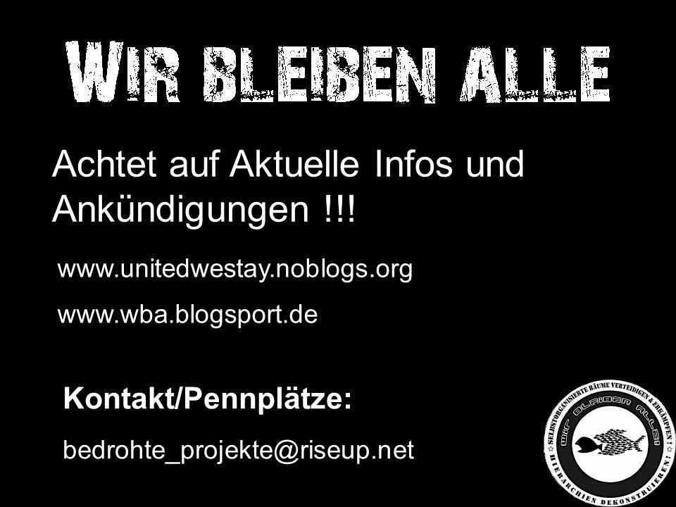 Achtet auf Aktuelle Infos und Ankündigungen !!.