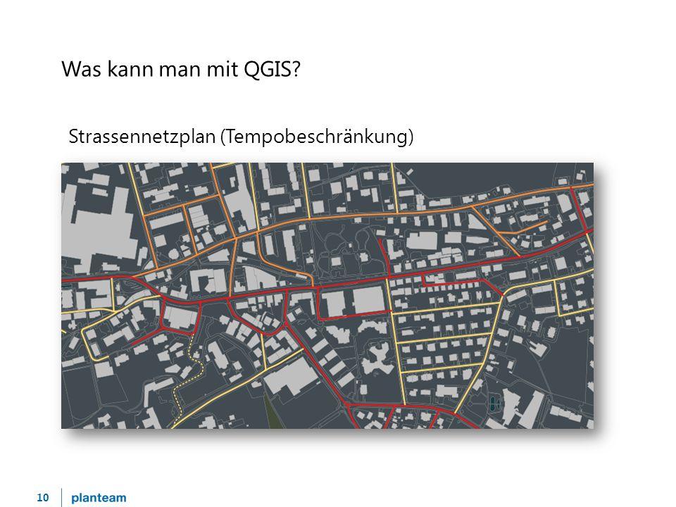 10 Was kann man mit QGIS Strassennetzplan (Tempobeschränkung)