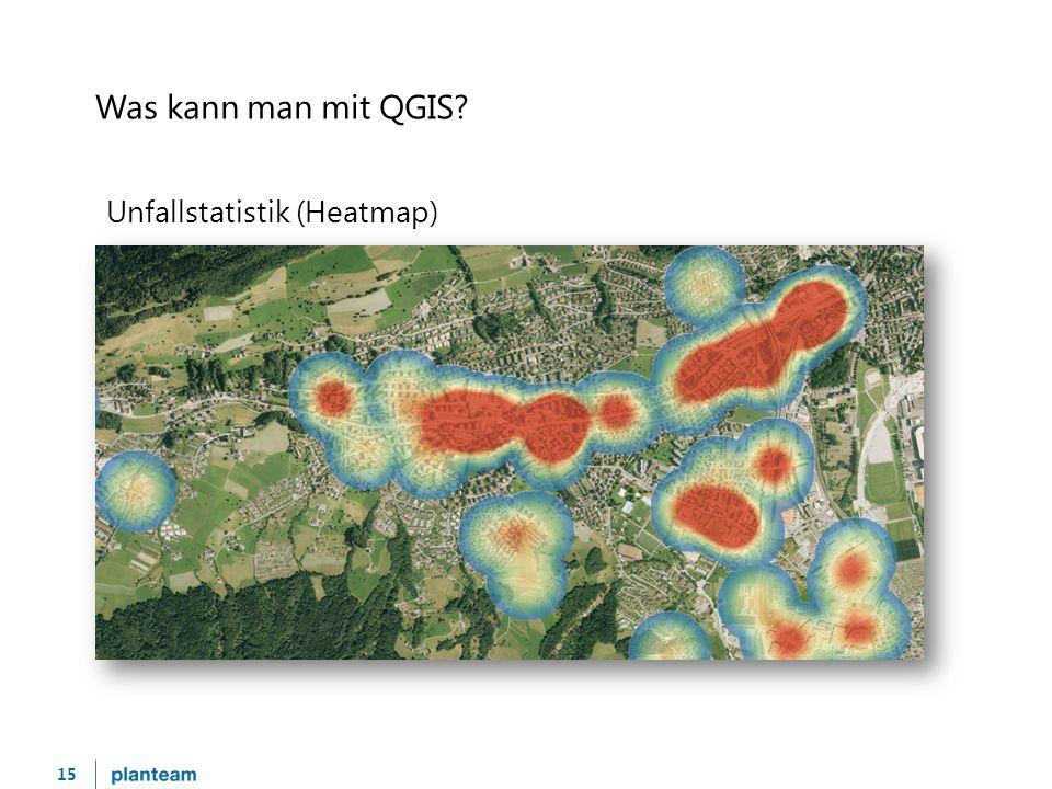 15 Was kann man mit QGIS Unfallstatistik (Heatmap)