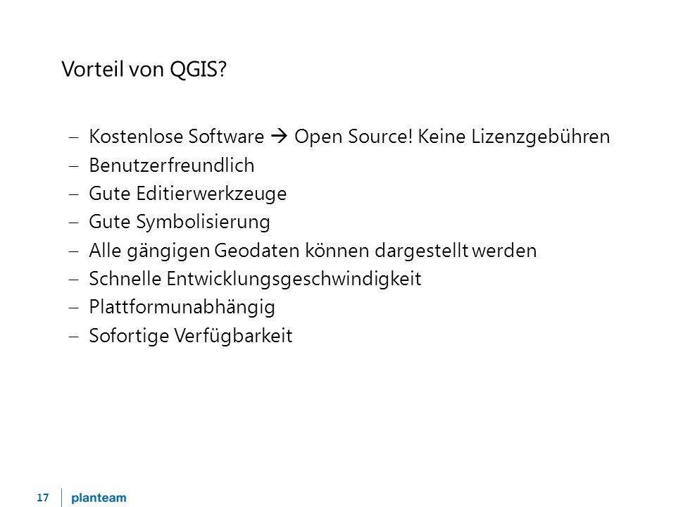 17 Vorteil von QGIS.  Kostenlose Software  Open Source.