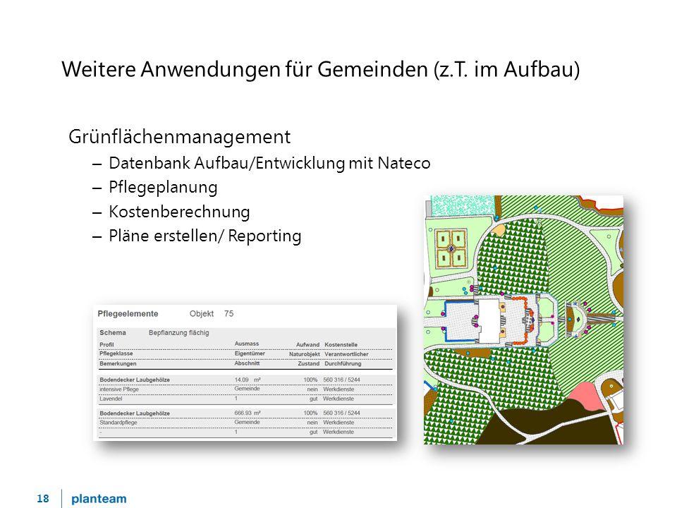 18 Weitere Anwendungen für Gemeinden (z.T.