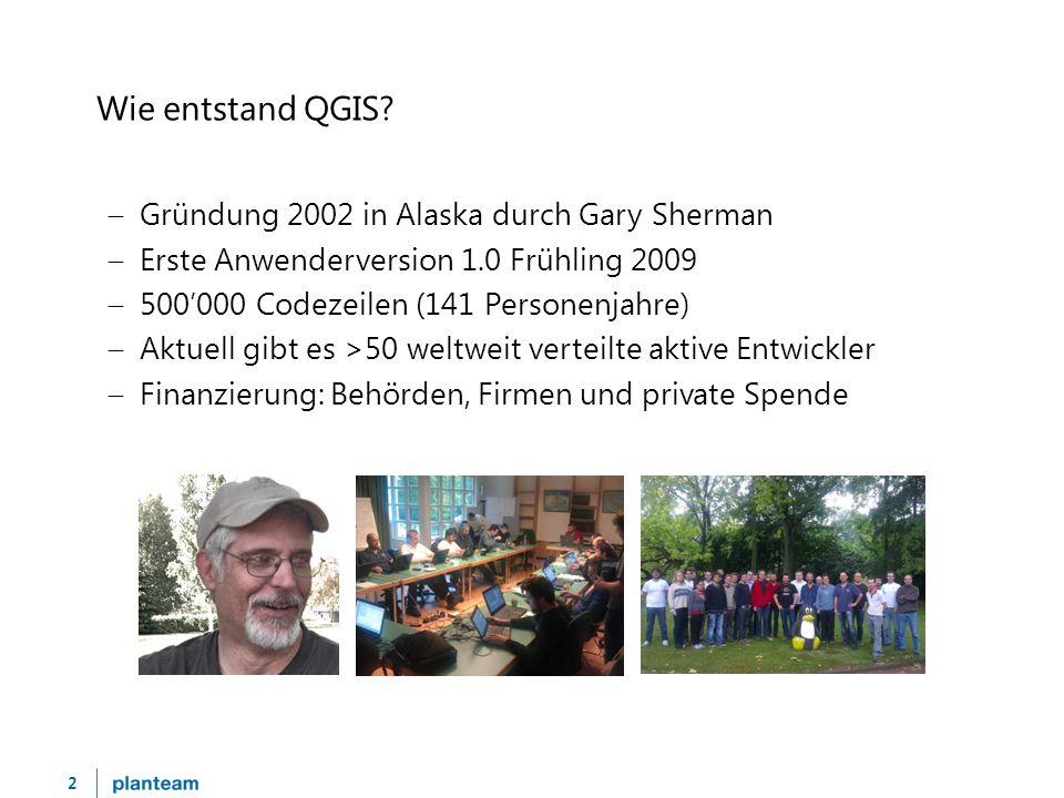 3 Wie ist QGIS in der Schweiz vertreten. QGIS Anwendergruppe Schweiz – 56 Mitglieder (Stand 1.