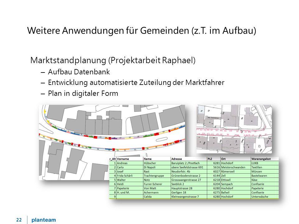 22 Weitere Anwendungen für Gemeinden (z.T.