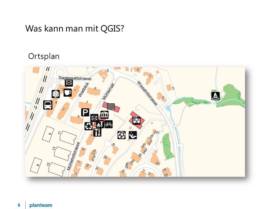 6 Was kann man mit QGIS? Ortsplan