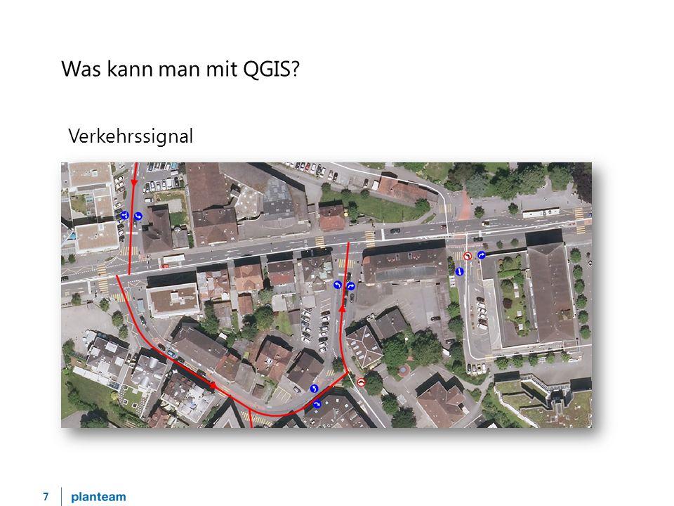 7 Was kann man mit QGIS Verkehrssignal