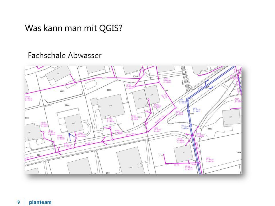 10 Was kann man mit QGIS? Strassennetzplan (Tempobeschränkung)