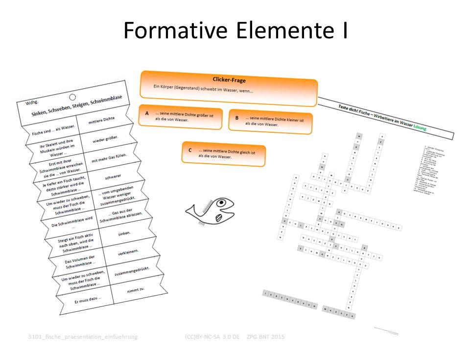 Formative Elemente I 3101_fische_praesentation_einfuehrung(CC)BY-NC-SA 3.0 DE ZPG BNT 2015