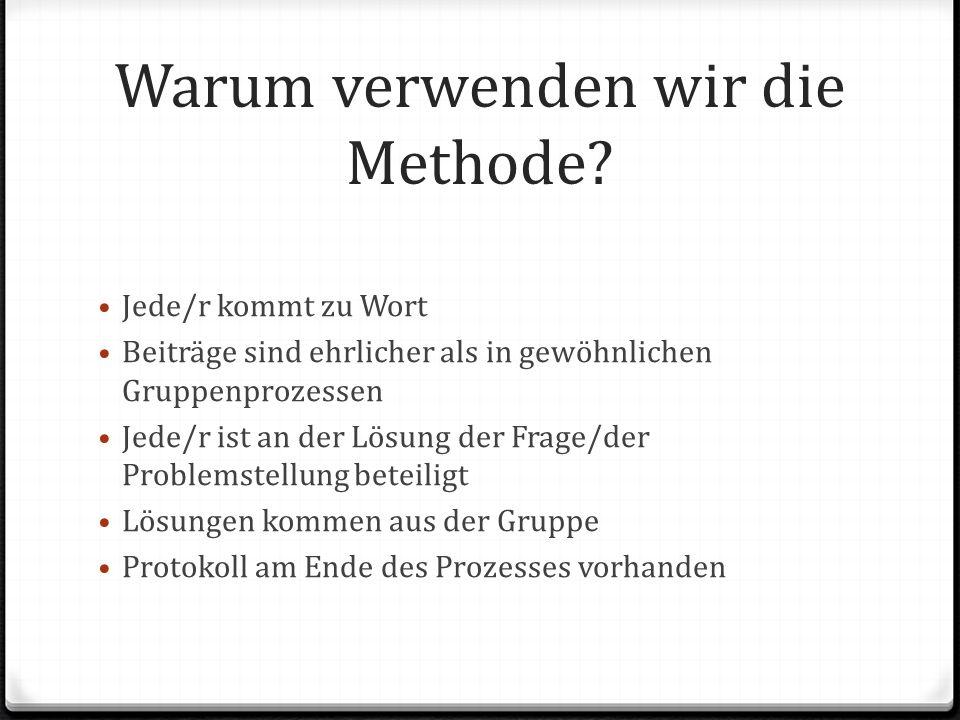 Warum verwenden wir die Methode.