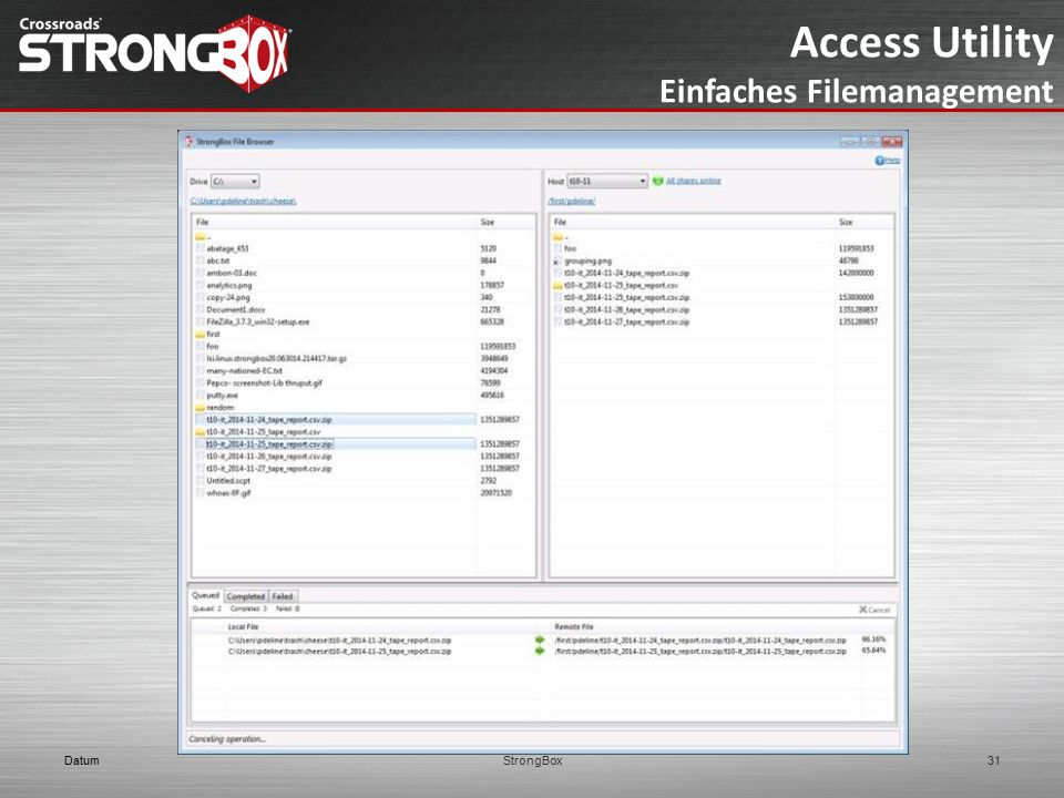 Access Utility Einfaches Filemanagement DatumStrongBox31