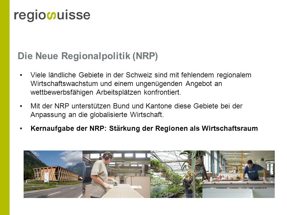 Die Neue Regionalpolitik (NRP) Viele ländliche Gebiete in der Schweiz sind mit fehlendem regionalem Wirtschaftswachstum und einem ungenügenden Angebot an wettbewerbsfähigen Arbeitsplätzen konfrontiert.