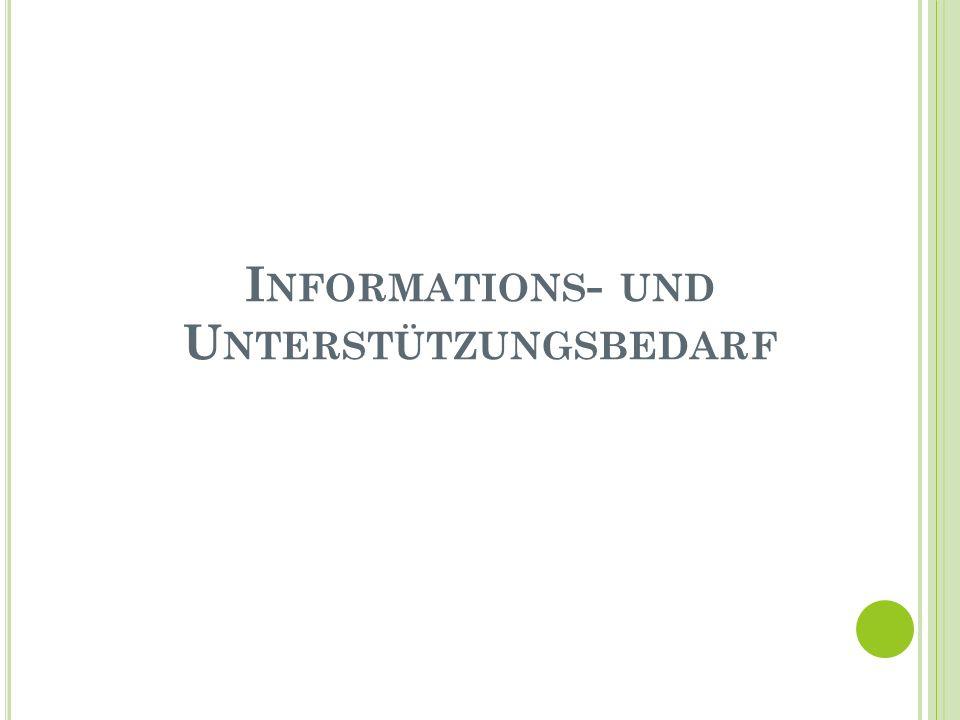 I NFORMATIONS - UND U NTERSTÜTZUNGSBEDARF