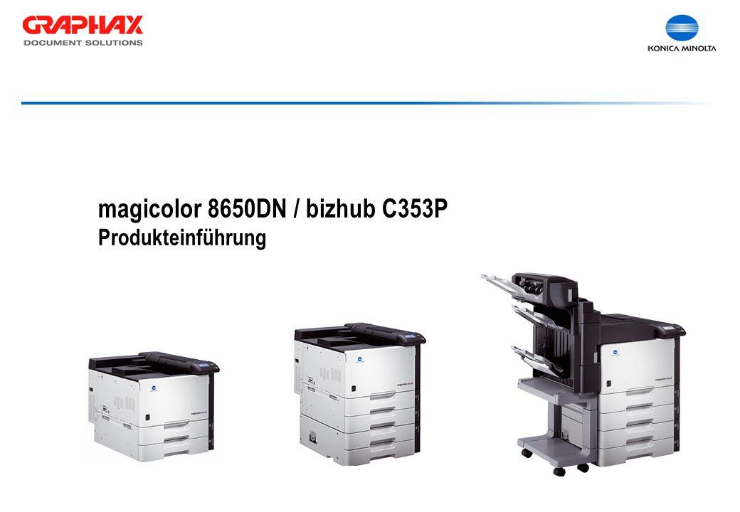 magicolor 8650DN / bizhub C353P Produkteinführung