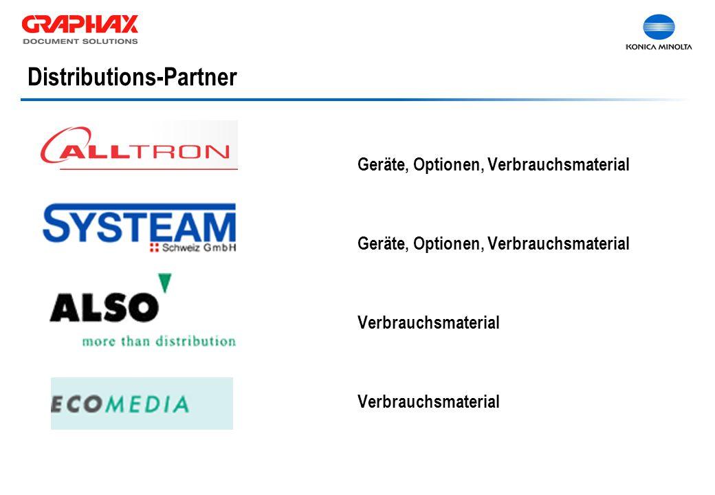 Distributions-Partner Geräte, Optionen, Verbrauchsmaterial Verbrauchsmaterial