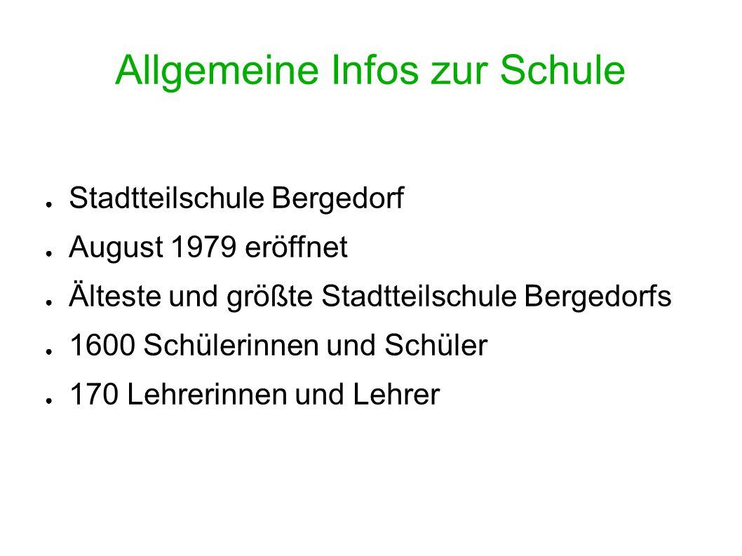 ● Stadtteilschule Bergedorf ● August 1979 eröffnet ● Älteste und größte Stadtteilschule Bergedorfs ● 1600 Schülerinnen und Schüler ● 170 Lehrerinnen u
