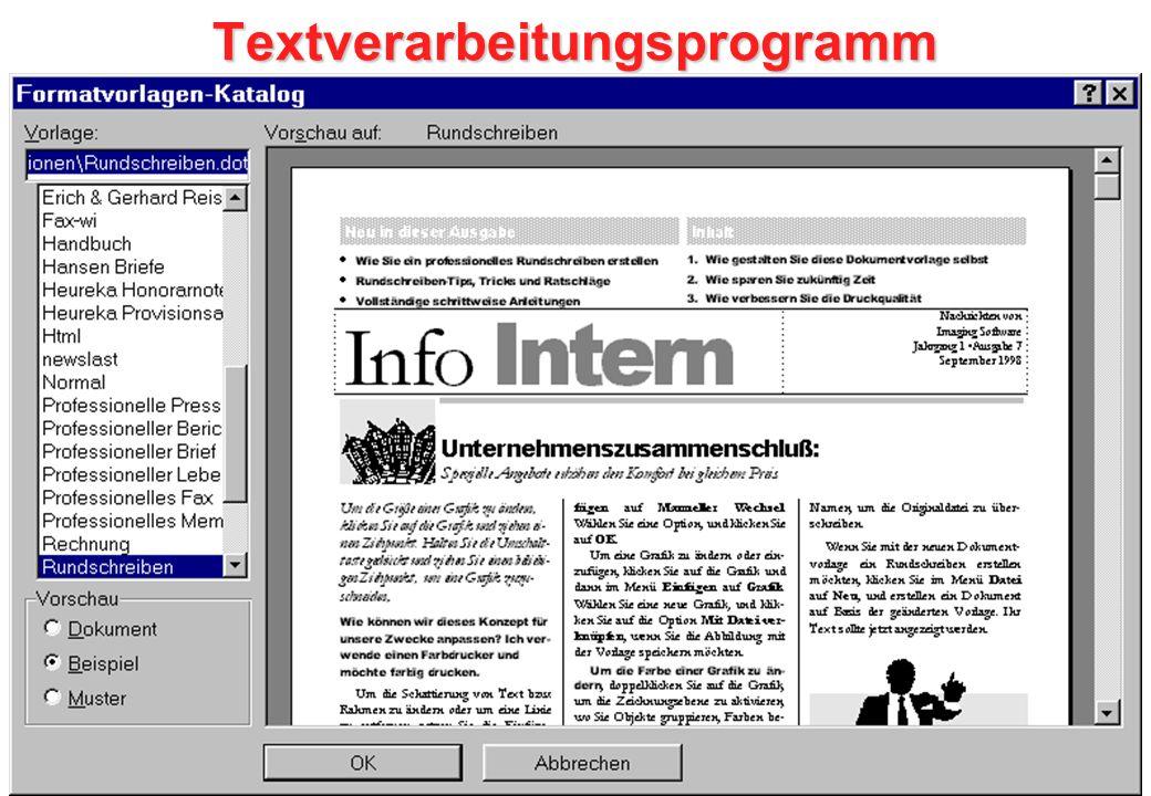 Textverarbeitungsprogramm