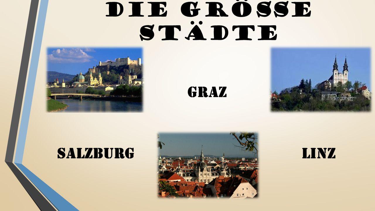 DIE Größe Städte SALZBURG GRAZ LINZ