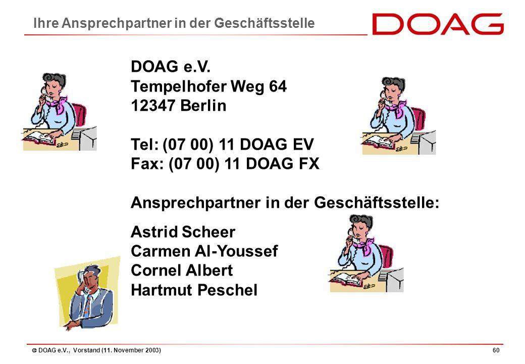  DOAG e.V., Vorstand (11. November 2003)60 DOAG e.V.