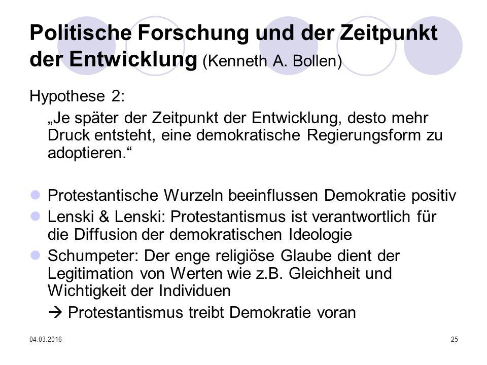 04.03.201625 Politische Forschung und der Zeitpunkt der Entwicklung (Kenneth A.