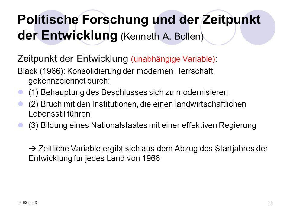 04.03.201629 Politische Forschung und der Zeitpunkt der Entwicklung (Kenneth A.