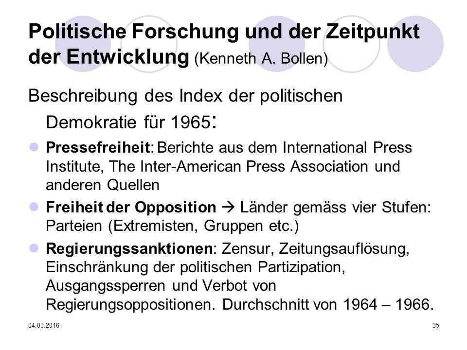 04.03.201635 Politische Forschung und der Zeitpunkt der Entwicklung (Kenneth A.