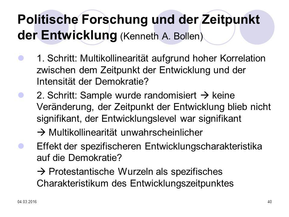 04.03.201640 Politische Forschung und der Zeitpunkt der Entwicklung (Kenneth A.