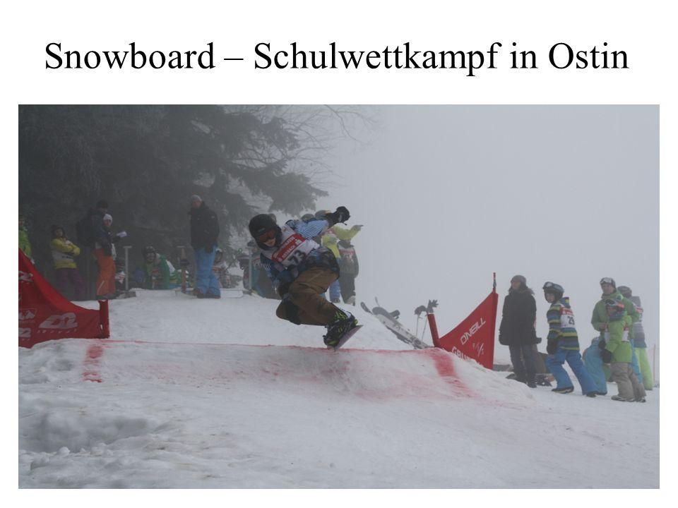 Snowboard – Schulwettkampf in Ostin