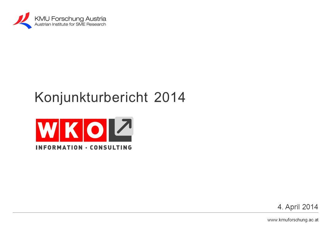 www.kmuforschung.ac.at Veränderung gegenüber dem Vorjahr in % Nominelle Umsatzentwicklung 2008 - 2013