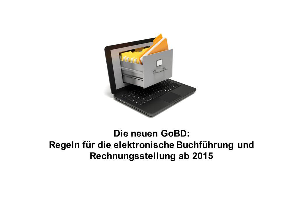 Seite 2 von 35 Inhaltsübersicht 1.Von den GoBS zu den GoBD 2.Die Neuerungen der GoBD 3.Die elektronische Aufbewahrung in der Praxis 4.ZUGFeRD: Die elektronische Rechnung der Zukunft 5.Weitere Fragen zur elektronischen Buchführung