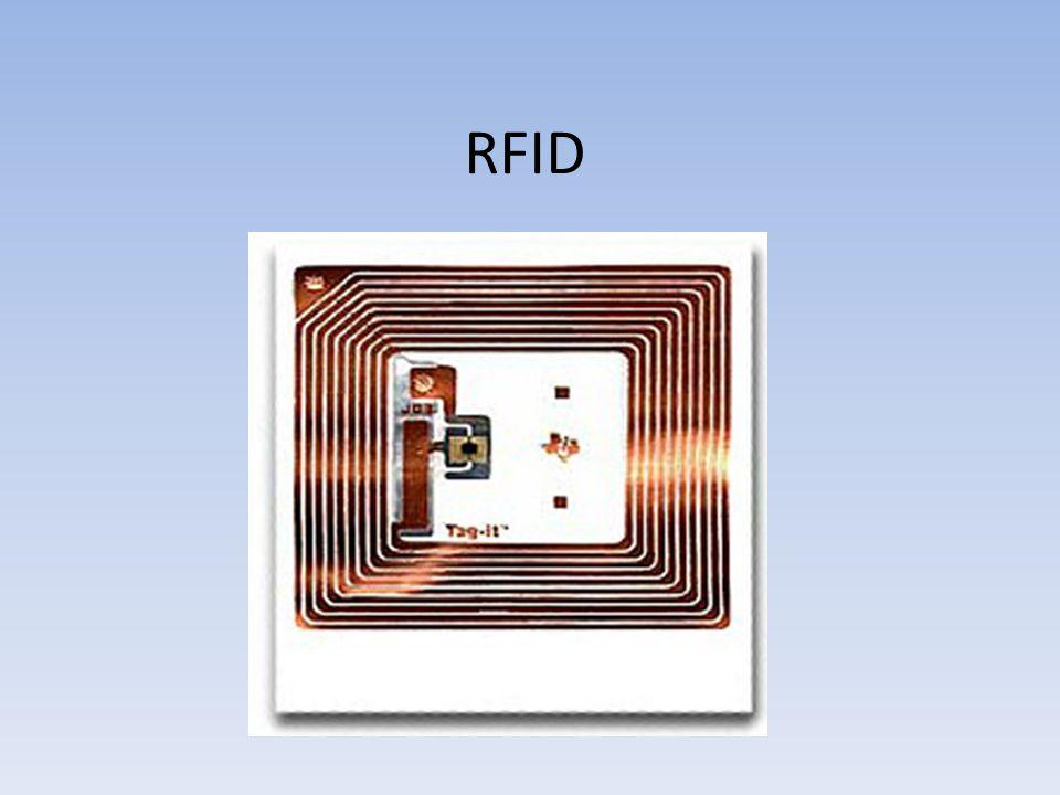 """RFID basiert auf dem englischen Begriff """"radio-frequency identification Identifizierung mit Hilfe elektromagnetischer Wellen ermöglicht die automatische Identifizierung und Lokalisierung von Gegenständen und Lebewesen erleichtert damit erheblich die Erfassung und Speicherung von Daten"""