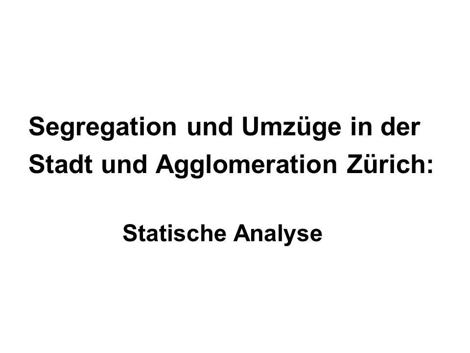 Segregation und Umzüge in der Stadt und Agglomeration Zürich: Statische Analyse