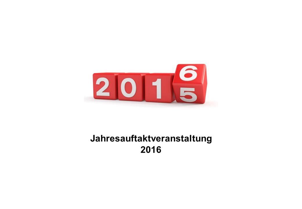 Jahresauftaktveranstaltung 2016
