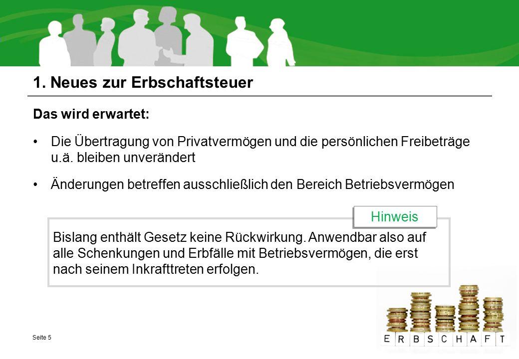 Inhaltsübersicht 3.1 Neuerungen für GmbH-Geschäftsführer 3.1 Neue Schwellenwerte 3.2 Neues zu Tochter-Kapitalgesellschaften 3.3 Neues zum Wegfall von Verlustvorträgen Seite 26