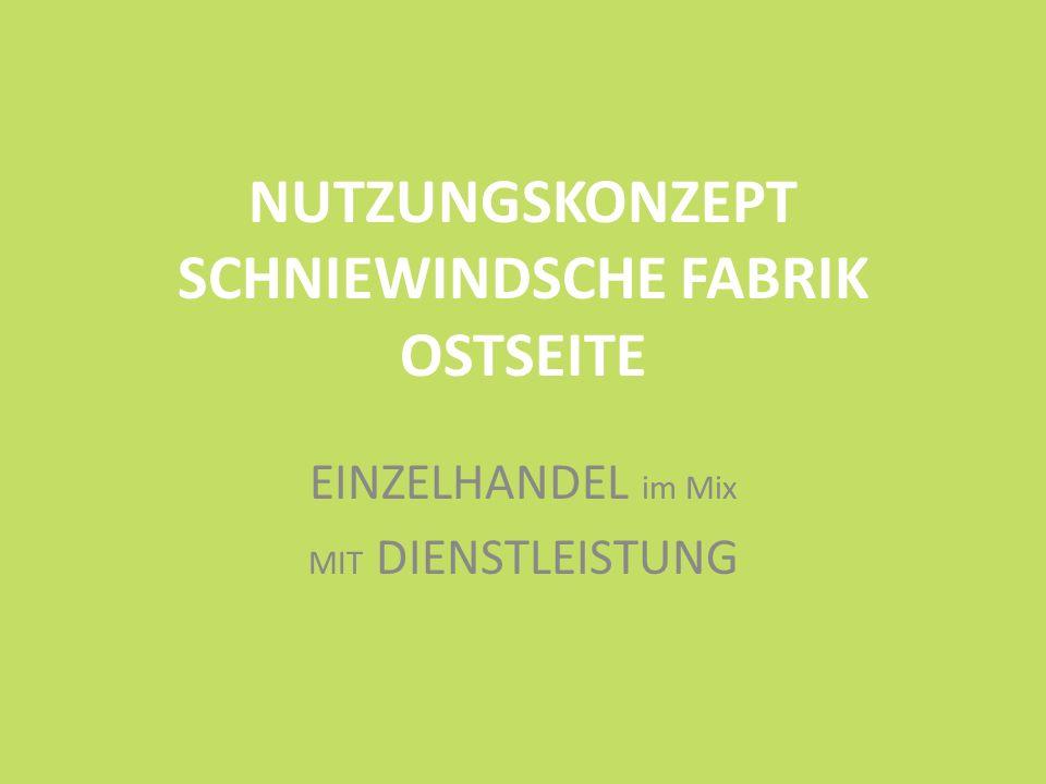 NUTZUNGSKONZEPT SCHNIEWINDSCHE FABRIK OSTSEITE EINZELHANDEL im Mix MIT DIENSTLEISTUNG
