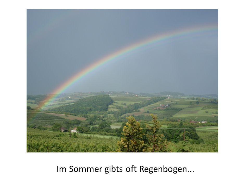 Im Sommer gibts oft Regenbogen...