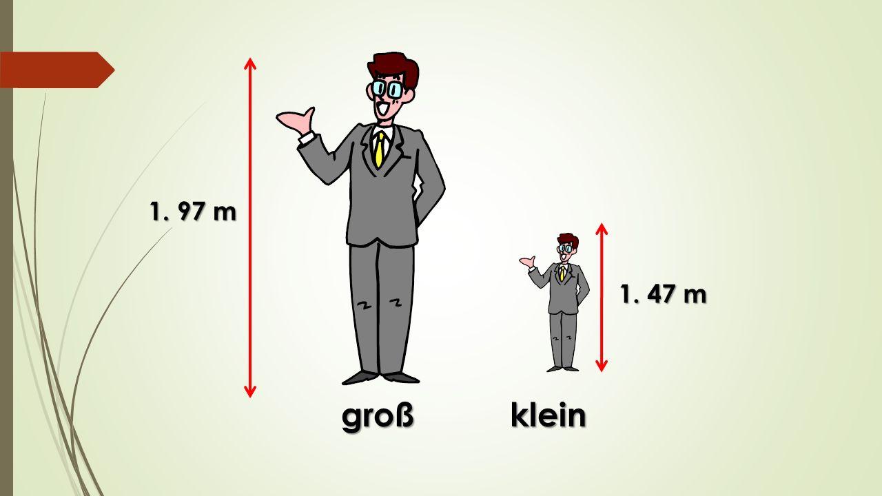 großklein 1. 97 m 1. 47 m