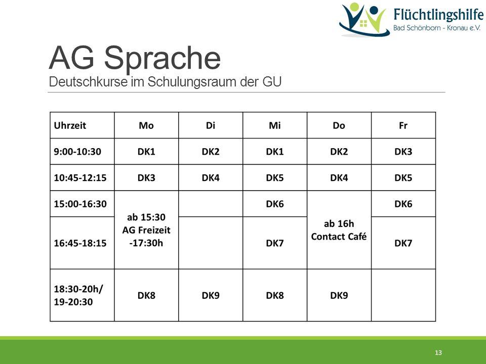 13 AG Sprache Deutschkurse im Schulungsraum der GU