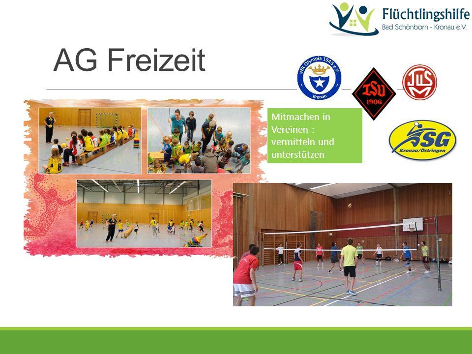 AG Freizeit Mitmachen in Vereinen : vermitteln und unterstützen