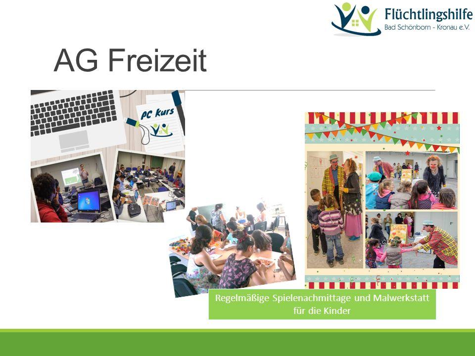 Regelmäßige Spielenachmittage und Malwerkstatt für die Kinder AG Freizeit
