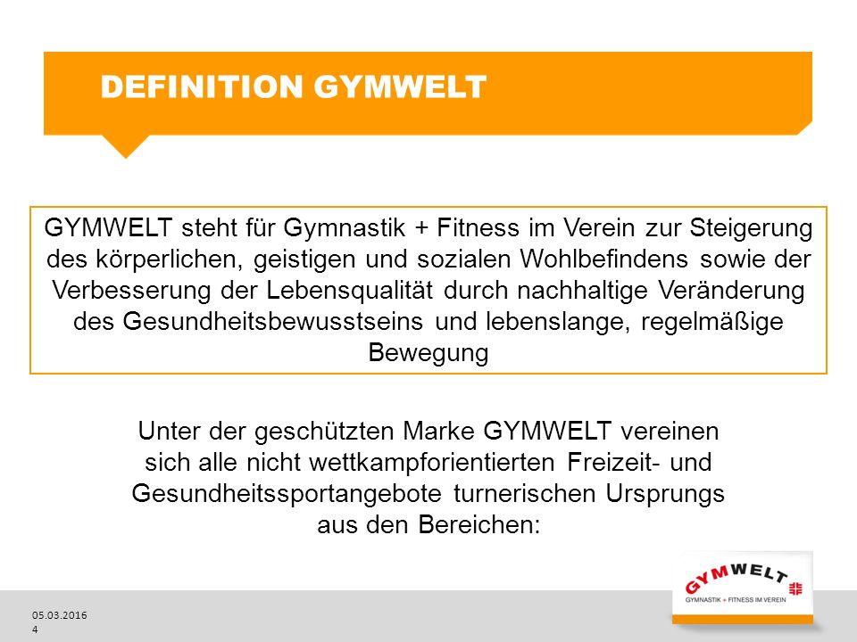 05.03.2016 5 Fitness und Gesundheit Tanz und Vorführungen Natursport DIE BEREICHE DER GYMWELT