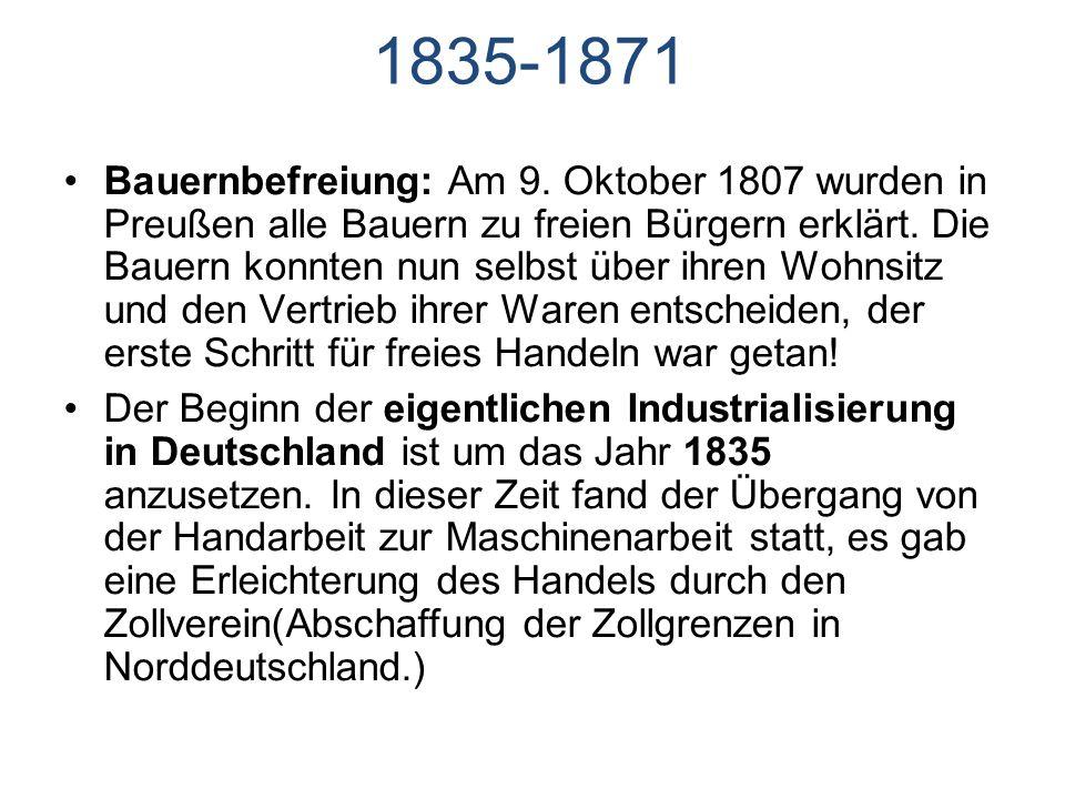 1835-1871 Bauernbefreiung: Am 9.