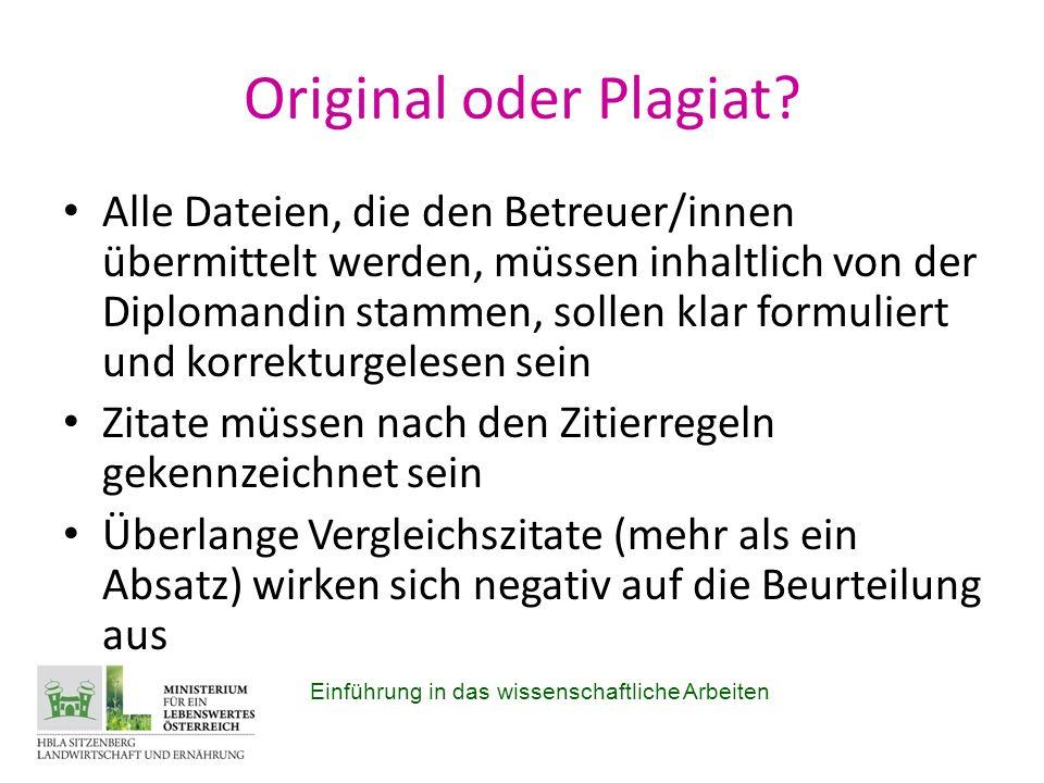 Original oder Plagiat.
